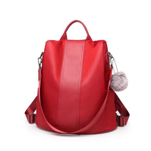 f2e4b1efa2 Miss Lulu Women Anti-theft Backpacks Girls Fur Ball School Bags Waterproof  Daypack Rucksack Burgundy on OnBuy