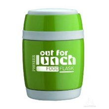 Pioneer Green Food Flask with Folding Spoon 0.48L