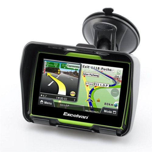 "4.3"" Car Motorcycle Motorbike GPS SAT NAV Bluetooth Navigation 8GB"