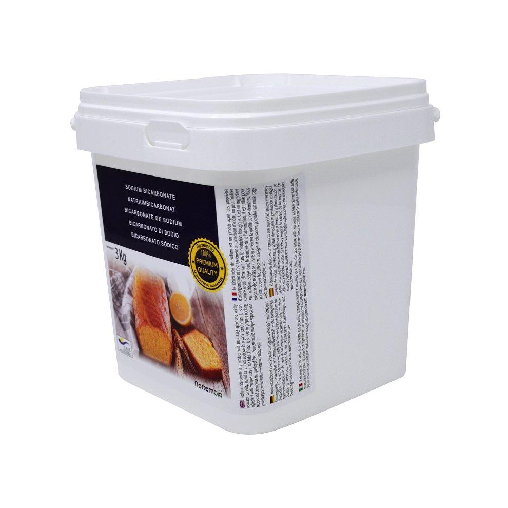 NortemBio Bicarbonate of Soda 3 kg, Baking Soda  Food Grade  Premium  Quality  Developed in UK