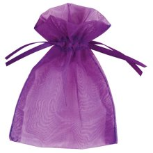 Club Green Small Organza Pouch - Purple - Official Party Product Favour Bag 10 -  official party product small organza pouch purple favour bag 10