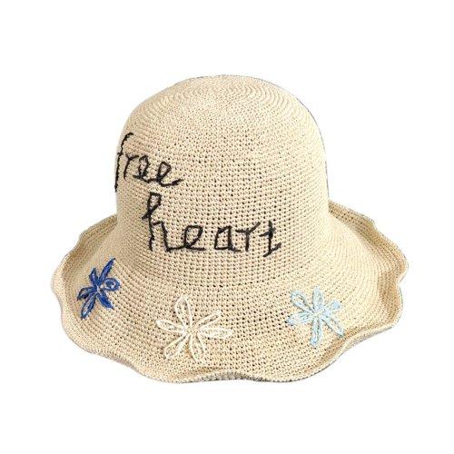 Handmade Summer Straw Hat Womens Foldable Sun Visors Girls Wide Brim Hats