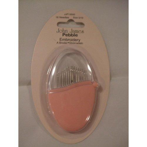 John James Pebble Needle Set - Set of 16 Embroidery Needles In Dusky Pink Pebble