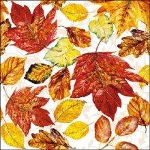 4 x Paper Napkins - Autumn Leaves  - Ideal for Decoupage / Napkin Art