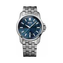 Hugo Boss Origin Men's Silver & Blue Bracelet Watch