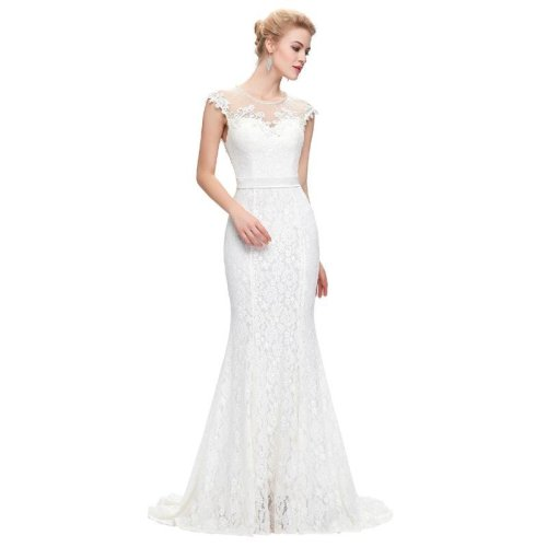 Robe de Mariage Vintage Mermaid Wedding Dress  Free Shipping Lace Bridal Gown Sleeves Vestido de Noiva White Wedding Dresses