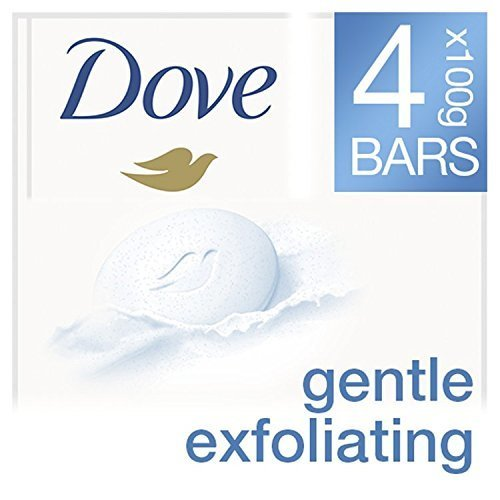 Dove Gentle Exfoliating Beauty Cream Bar, 4 x 100 g