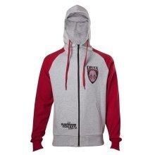 Guardians Of The Galaxy 2 Drax Hooded Zip Mottled Light Grey / Red L Size