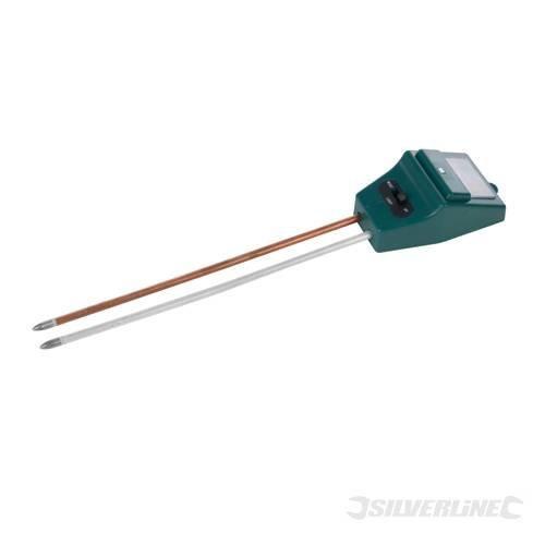 Silverline 3-in-1 Soil Tester 210mm - 3in1 361447 Ph Moisture -  soil tester silverline 3in1 210mm 361447 ph moisture
