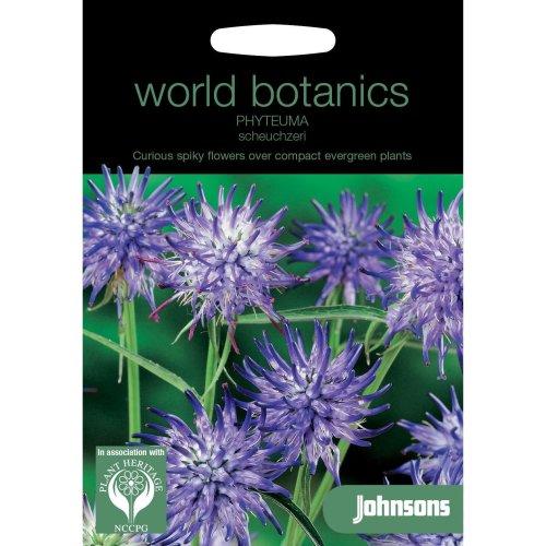 Johnsons World Botanics Flower - Pictorial Pack - Phyteuma scheuchzeri - 250 Seeds