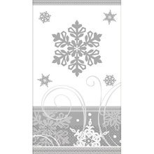 Amscan 16 Count Sparkling Snowflakes Guest Towels, Multicolor
