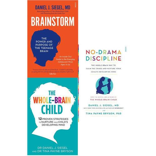 Daniel J. Siegel 3 Books Collection Set No Drama Discipline,Brainstorm