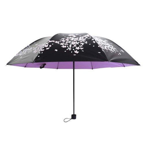 Sun Umbrellas Vinyl Sun Umbrella Cherry Clear Umbrella Three Folding