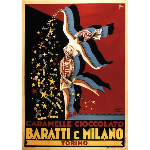 Advertising poster - Baratti & Milano - High definition printing on stainless steel plate