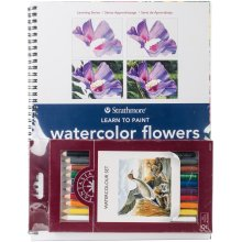 Learn To Paint Watercolor Flowers Set -
