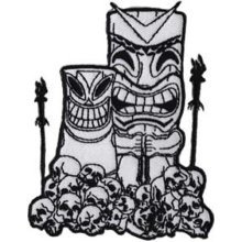 Application Tiki and Skulls Patch