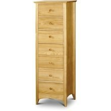 Morento Pine 7 Drawer Narrow Chest - Fully Assembled Option