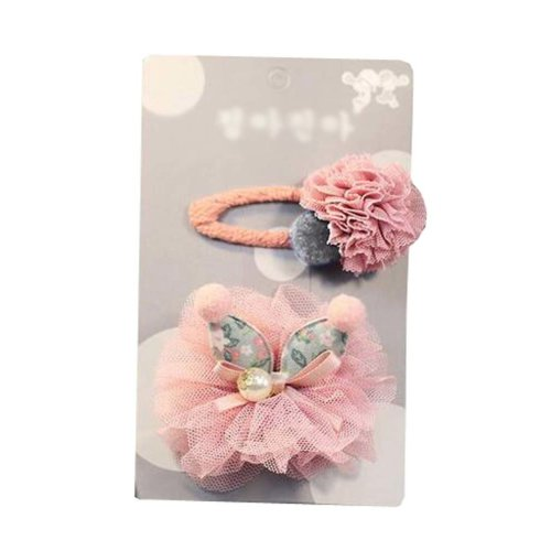 Set of 2 Lovely Baby Girls Hair Clips Barrettes Hair Pins, Rabbit Ears