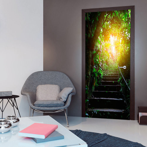 Photo wallpaper on the door - Photo wallpaper - Stairs in the urban jungle I