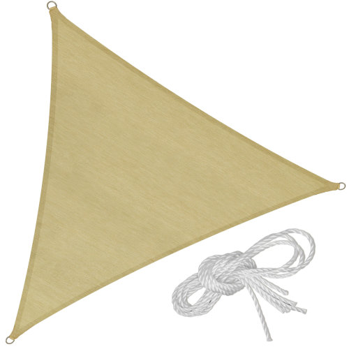 Sun shade sail triangular 360 x 360 x 360 cm