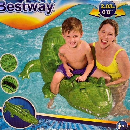Bestway 203cm Inflatable Water Swim Crocodile Ride On