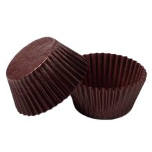 500PCS Lovely Baking Paper Cups Cupcakes Cases Cupcakes Cup, Brown