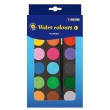 Pbx2470747 - Playbox - Water Colour Palette (18 Colours W/ Brush) - 22 X
