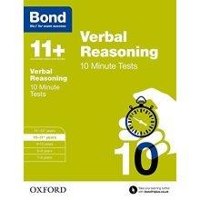 Bond 11+: Verbal Reasoning 10 Minute Tests: 10-11+ years