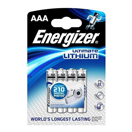 Energizer Ultimate Lithium Batterry AAA Batteries - Pack of 4 (L91)