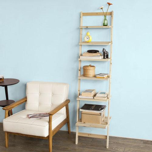 SoBuy® FRG161-N, 6 Tiers Bookcase Ladder Shelf Storage Display Shelving Unit