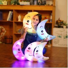 Cute Design Moon Glow LED Pillow Light Soft Cushion