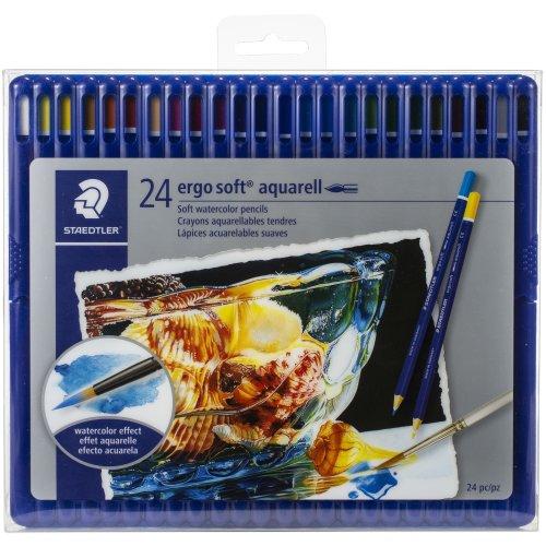 Ergo Soft Aquarell Soft Watercolor Pencils 24/Pkg-