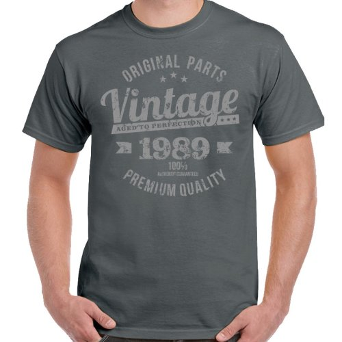 Vintage Year 1989 Premium Quality Mens 30th Birthday T Shirt 30 Old Gift