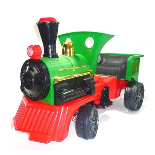 Ride on Kids Electric 12v Battery Powered Play Train Engine Green