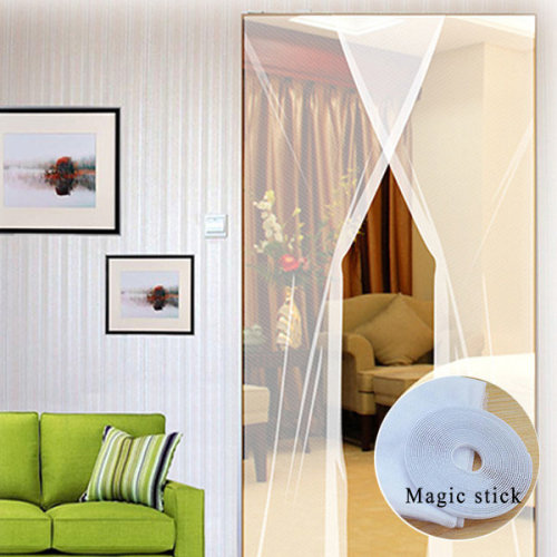 24x83 Inch 2pcs DIY Anti Mosquito Pest Window Curtain Net Mesh Door Sheer Curtain Protector