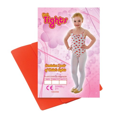 11-14 Years Large Red Tights - Fancy Dress Accessory Childs White Dance Green -  tights fancy dress red accessory childs white dance green CHILDS