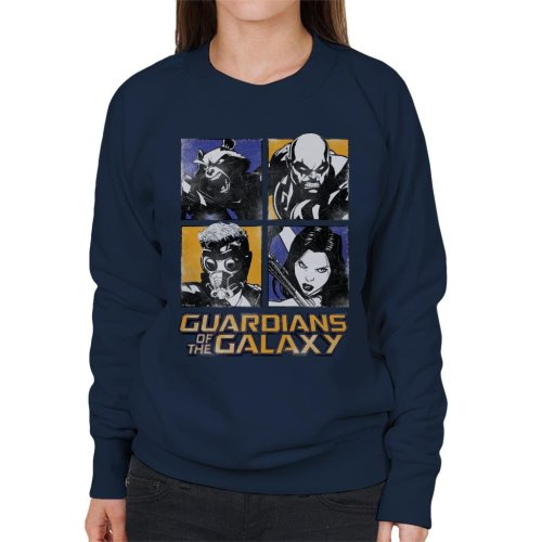 Marvel Guardians Of The Galaxy Cartoon Pop Art Women's Sweatshirt