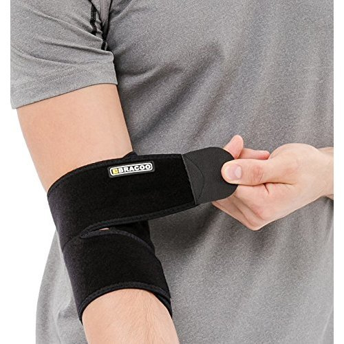 591bed4b66 Bracoo Neoprene Elbow Support, Easy Adjustable Wrap for Injury Recovery on  OnBuy