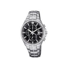 Festina F6862/4 Mens Chronograph Black Dial Stainless Steel Watch