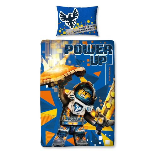 Lego Nexo Knights 'Power' Single Duvet Set - Large Print Design