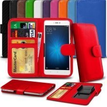 """iTronixs - Coolpad Torino (5.5"""") High Quality Clamp Style PU Leather Wallet Case Cover"""