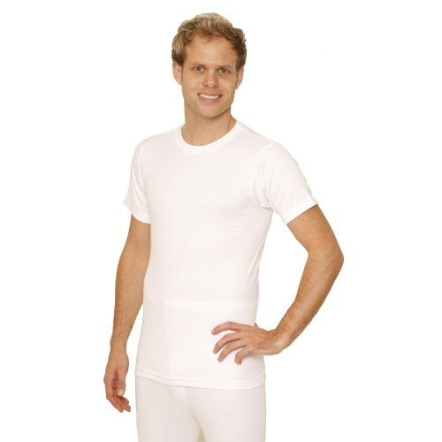 OCTAVE Mens Thermal Underwear Short Sleeve T-Shirt / Vest / Top