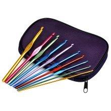 Trixes 22pc Aluminium Crochet Hooks | Crochet Hook Set With Case