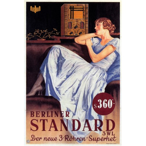 Advertising poster - Berliner Standard - High definition printing on stainless steel plate