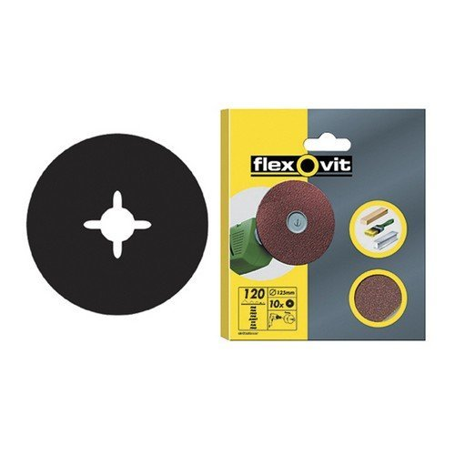 Flexovit 63642526377 Drill Mountable Discs 125mm Coarse 50g Pack of 10