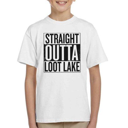 Fortnite Straight Outta Loot Lake Kid's T-Shirt
