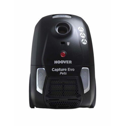 Hoover BV71_CP20 Capture Pets Bagged Cylinder Vacuum Cleaner, 700 W, Black/Grey