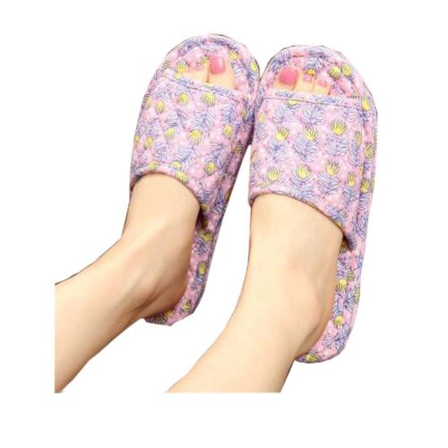 Slippers For Women/Classic Plant Pattern Style Slippers/Pink