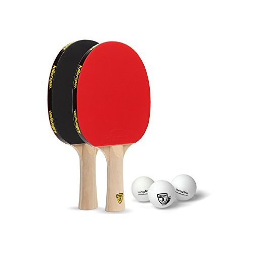 Killerspin Jetset 2U Classic Set Of 2 Recreational Ping Pong Paddles With 3 White Balls For Every Occasion