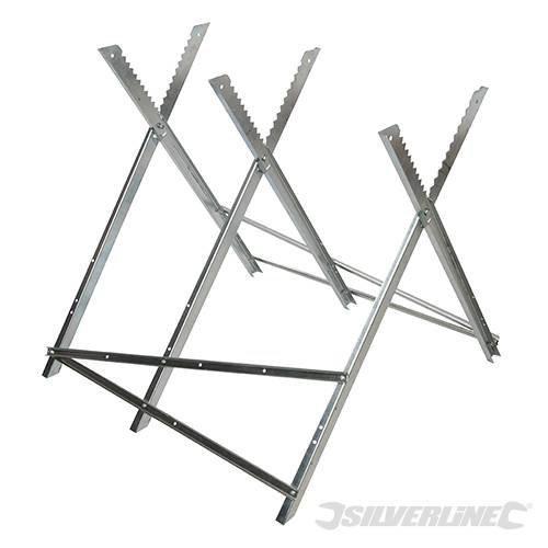 Silverline Log Saw Horse 150kg Capacity - 127998 Chain -  log horse saw silverline 150kg capacity 127998 chainsaw